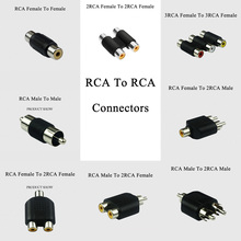 6PCS RCA to RCA Male Female Socket Cable Extension Phono Adapter r Audio video Connector plug Extended cable(China)