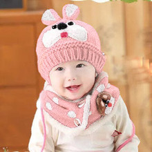 Baby Scarf Boys Girls Infant Children Rabbit Teeth Scarf Child Scarf Hats Caps(China)