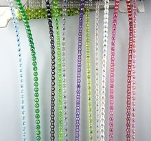 SS6 A grade AB crystal glass stones 2mm rhinestones plastic cup garment shoes wedding decorations banding trims chain 10yards(China)