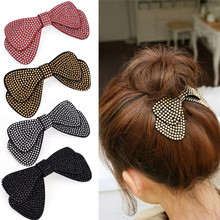 1PCS Women Hair Accessories Bow Hairpins New Designer All Match Hair Barrettes Wholesale 4 Colors