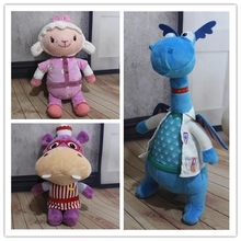 1pcs Doc Mcstuffins Toy Lambie Lamb Stuffy Hallie Hippo Dragon stuffed animals plush toys Brinquedo Kids Gifts