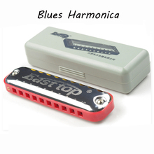 Easttop Diatonic Harmonica 10 Holes C Key Blues Mouth Organ Musical Instrument Harp Toy Children Kids Beginners Gifts