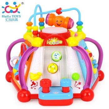 Huile Toys 806 Bébé Jouet Musical Activité Cube Play Center avec des Lumières, 15 Fonctions et Compétences D'apprentissage et Éducatifs Toys Pour enfants