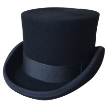 Halloween Cosplay Magician Magic Caps Steampunk Wool Top Hats For Women Men British Fedora Masquerade Party Packaging With Box(China)