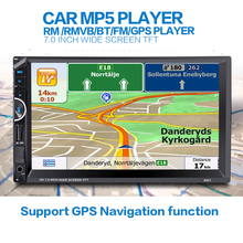 Universal 2 Din Car Video Player Auto Audio Stereo MP5 Player 7'' 2Din Car DVD Player USB FM Bluetooth Support Rear View Camera(China)