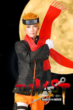 Free Shipping Naruto The movie The last-Uzumaki Naruto Cosplay Costume/Cosplay Wig