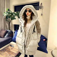 Solid Big Plus Size Fashion Down Jacket Women Winter Coat Thick Warm Parka Oversize Fur Duck Down Garment With Hood A1468