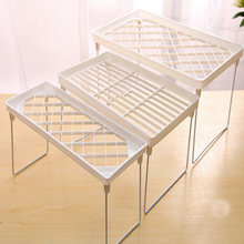 L/M/S Size Option Foldable Kitchen/ Bathroom Storage Rack Useful Floor Type Kitchen Bathroom Organizer Rack Accessories #717(China)