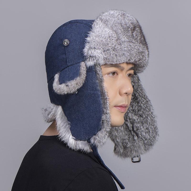grey rabbit fur jean blue shell 2
