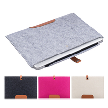 Wool Felt Laptop Notebook Sleeve Bag Case For MacBook Air Pro Retina 11 13 15 Touch BarBusiness Laptop Briefcase Bag for Dell HP