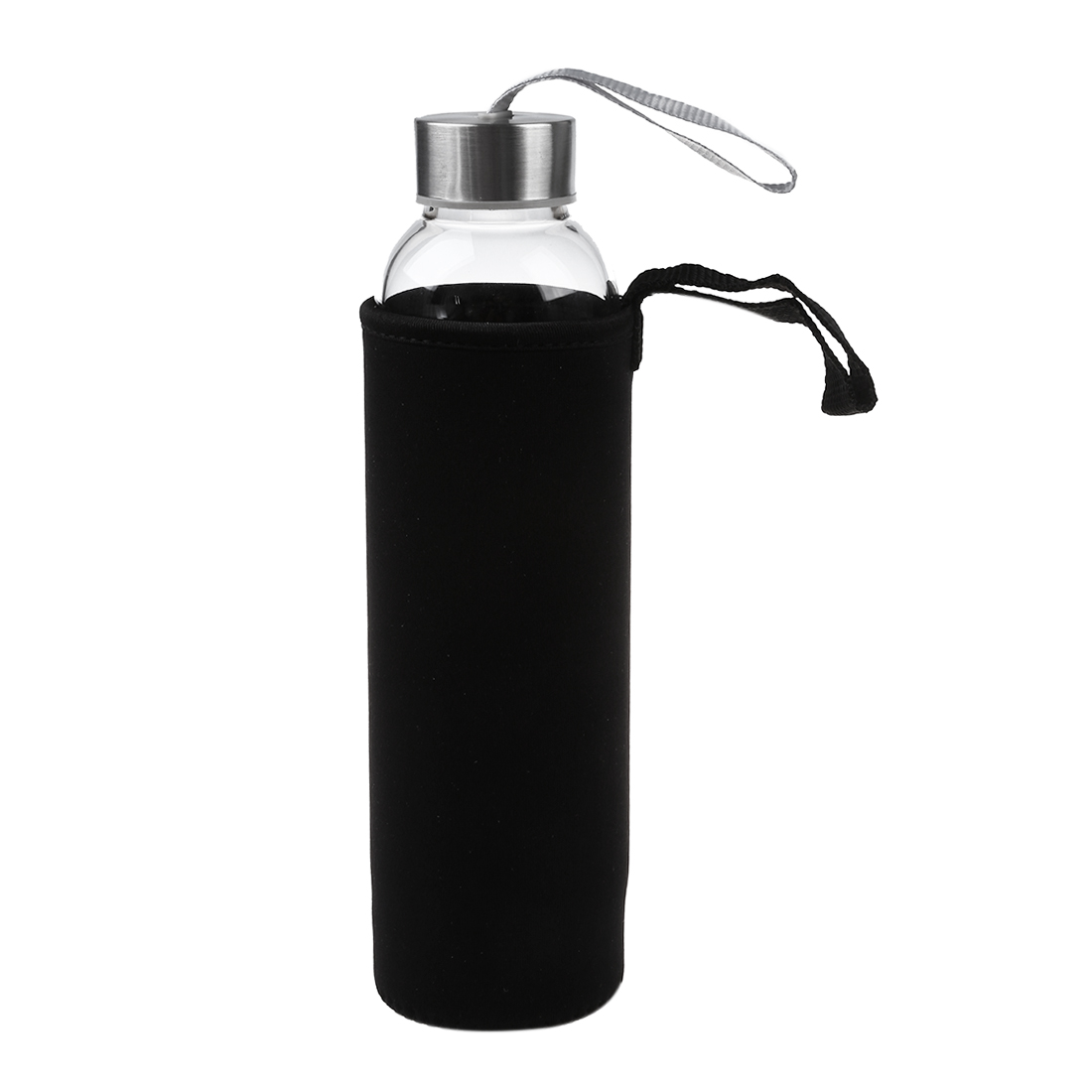 HOT-Glass Sport Water Bottle with Tea Filter Infuser Protective Bag 550ml 3