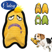 Didog Pet Dog Squeak Chew Toy Interactive Puzzle Squeaky Sound Dogs Cats Playing Training Toys Bite Resistant Monster Design(China)