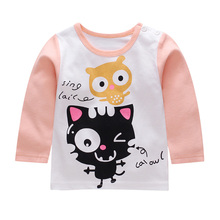 Promotion New children clothes boys girls unisex autumn t shirt children long sleeve t-shirts cotton kids spring Tops