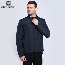 CITY CLASS 2017 Mens Quilted Reflective Jackets and Coats Thin Cotton Padded Pilot Casual Fashion Spring Autumn for Male 3853(China)