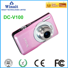 Freeshipping Winait Digital Camera 15mp  5X optical zoom HD (1280*720 pixels) Mini Photo Camcorder DC