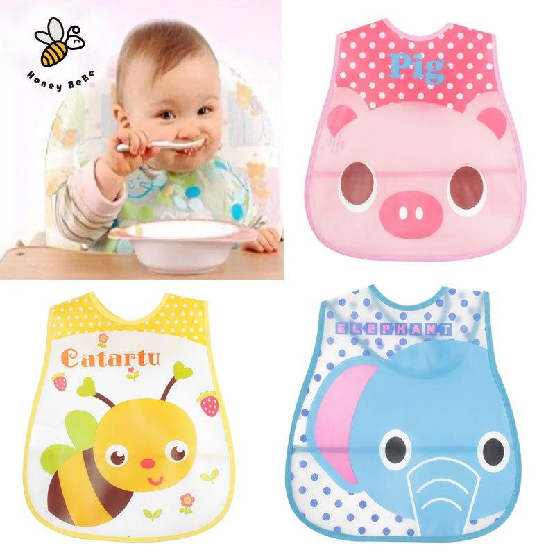 Baby Bibs EVA Waterproof Lunch Bibs Boys Girls Infants Cartoon Pattern Bibs Burp Cloths For Children Self Feeding Care<br><br>Aliexpress