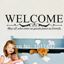 Large size Five kinds of styles welcome to our home sign Wall quote decals for windows glass doors decor free shipping