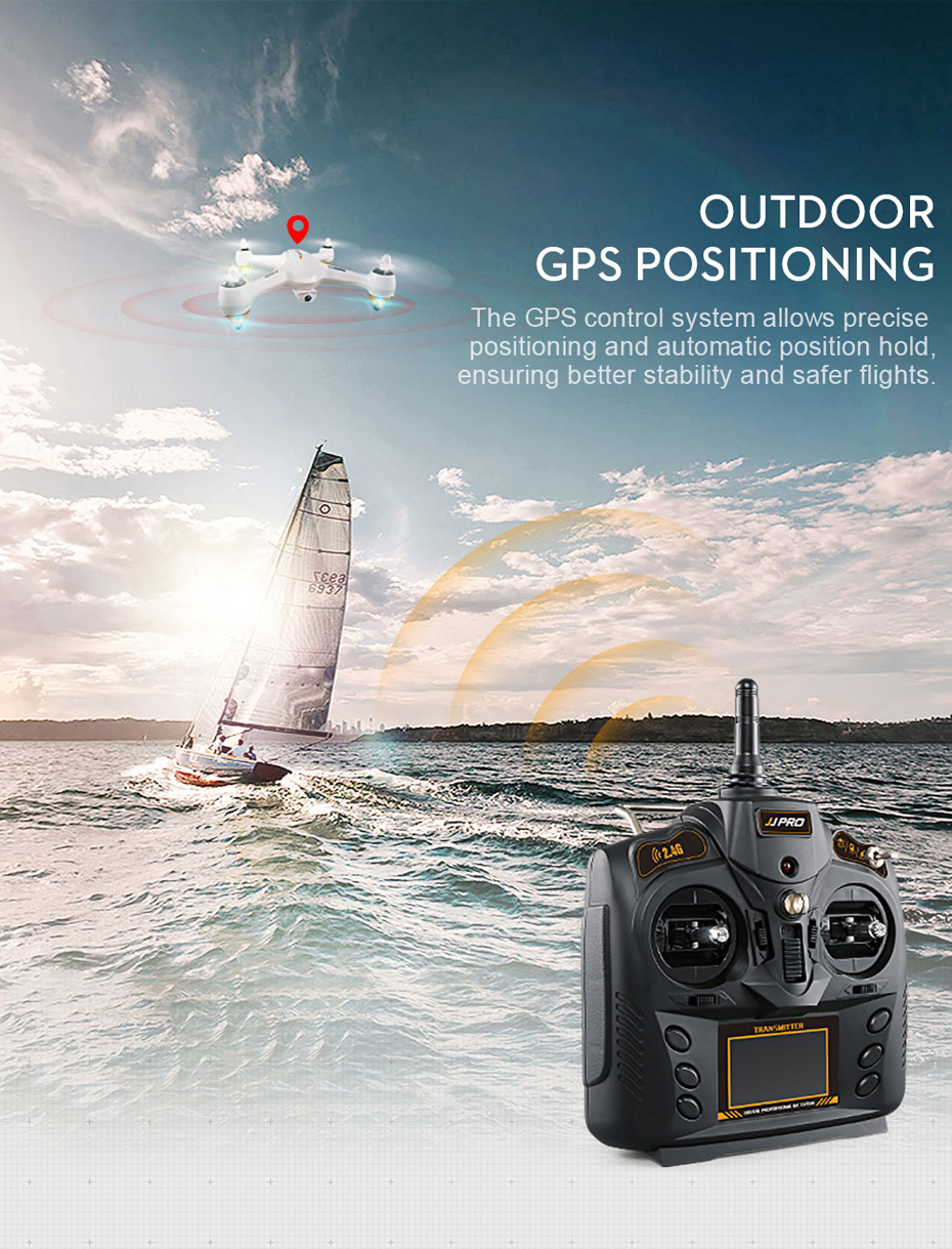 JJRC JJPRO X3 GPS Drone with Camera 1080P RC Quadcopter Profissional Brushless Motor 00mAh Battery GPS Positioning 5