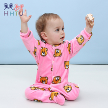 HHTU New 2017 Autumn Winter Baby Rompers Clothes Long Sleeved Coveralls for Newborns Boy Girl Polar Fleece Baby Clothing Soft(China)