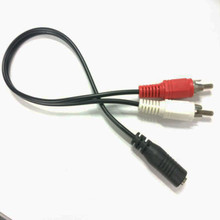 Audio Cables HDMI To VGA RCA Adapter 3.5mm Stereo Female Mini Jack To 2 Male RCA Mini Plug Y Optical Adapter Audio 1/8 Cable