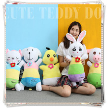 Miccidan Rabbit Pig Dog Cat Pillow licorne kids toys rooster ty plush animals sponge bob cat stuffed animals cheap toys dolls(China)