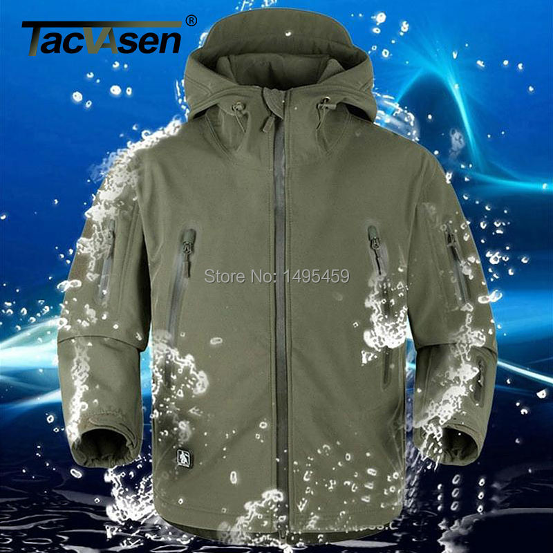 TACVASEN Thermal Upgraded V5.0 Military Tactical Jacket Men Breathable Waterproof Windproof Soft Shell US Army coats TD-YCXL-001