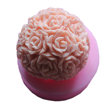 Round Rose 3D Candle molds Toilet soap Cake Maker Silicone model Free shipping