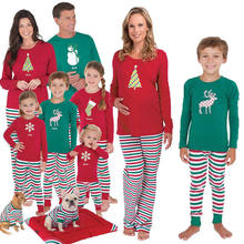 family christmas pajamas set adult kids girl boy mommy sleepwear nightwear mother daughter clothes matching family