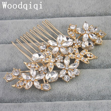 Woodqiqi CADENCE, Crystal and Pearl Bridal Hair Comb, Vintage Style Wedding Hair Comb, golden Hair Accessories