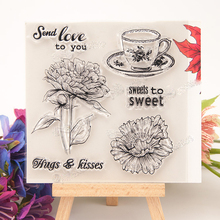 sweet sunflower cute leisure afternoon theme DIY scrapbooking silicone seal clear stamp