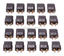 20pcs(10 pairs) Black High Quality XT60 Connector plug Male / Female for Battery quadcopter multicopter(China)