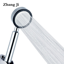 Bathroom accessories Water Saving Shower Heads Chrome Electroplated handheld ABS High pressure showerhead Free shipping ZJ113(China)
