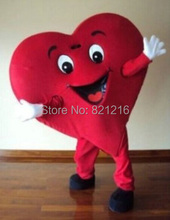 Lovely Smiling Heart Cartoon Dolls Performance Clothing Mascot Costume(China)