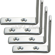 4pcs 4-Holes Marine Boat Stainless Steel Corner Brace Joint Structural Right Angled Bracket Hinge