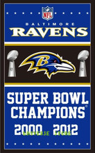Free shipping 3x5FT Baltimore Ravens football team flag, NFLVince Lombardi Trophy Championship banner digital printing 100D(China)