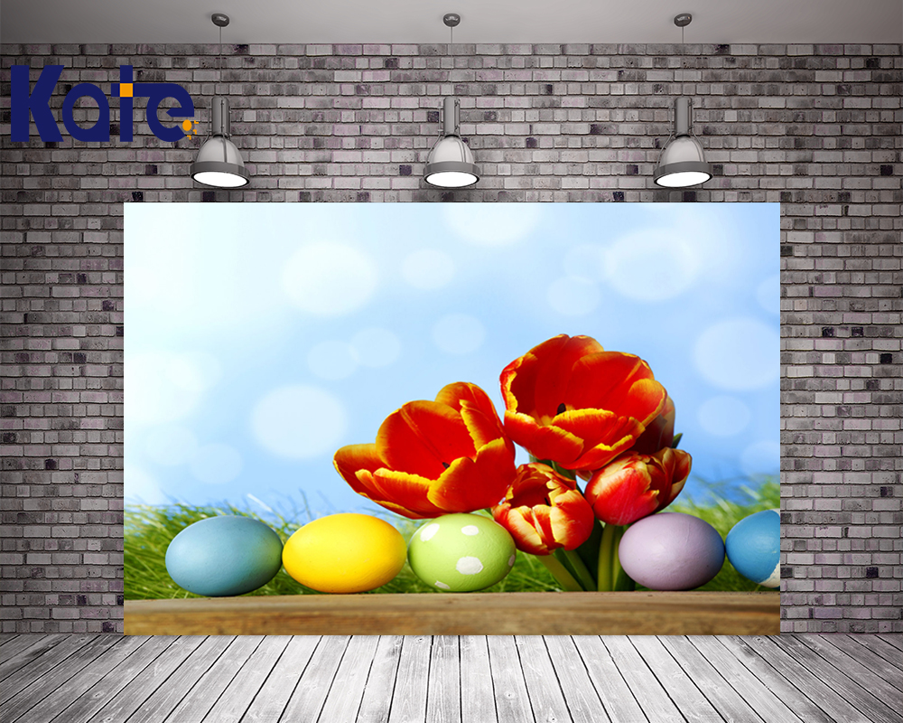 3M*3M(10*10Ft) Easter Photography Backdrops Tulips Green Eggs Background Photography Easter Day Zj<br>