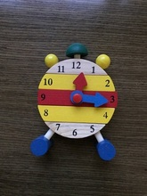 Clock wooden model Blocks assbembly small game one pcs per price(China)