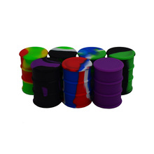 500pcs 26ml Oil barrel drum Silicone Concentrate Container or Non stick Large Lego Style Wax Oil Cream Jar Dab or Slick oil jars