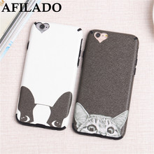 Fashion Cute Cartoon Dog Cat Soft Coque Cases for IPhone 6s 6 Phone Case Silicone Funny FRENCH BULLDOG Capa Cover for iphone 6(China)