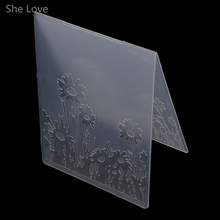 She Love Scrapbooking Embossing Folder Sunflower Plastic Template DIY Card Making Decoration Papercraft
