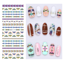 10Pcs Nail Design Water Transfer Nail Art Stickers Vintage Geometry Decorations For Nails Stickers Art Watermark Water Decals