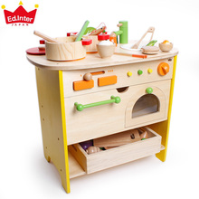 Baby Toys Japan Ed.inter Large simulation Kitchen Toys Children Educational Wooden Toys Play House Christmas Gift(China)