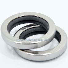 40*52*8 mm Dual Lip PTFE Oil Seal with SS304 Housing For Screw Compressors/Vacuum Pumps/Mixers/Blowers/Gear Boxes/Extruders