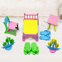 Hot New DIY EVA Handmade Creative Furniture Play House 3D Model Puzzles Kindergarten Build Baby Educational Toys For Children(China)