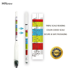 Triple Scale Hydrometer For Home brew Wine Beer Cider Alcohol Testing 3 Scale hydrometer High quality