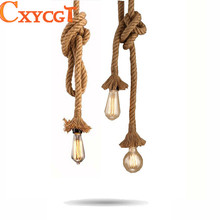 Retro Vintage Rope Pendant Light Lamp Loft Creative Personality Industrial Lamp American Style(China)