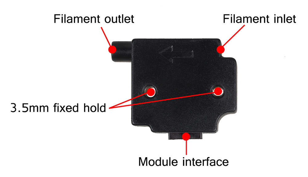 3D Printer parts  filament detecting module (4)
