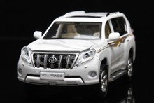 Diecast Car Model Toyota Land Cruiser 2016 Prado Decal 1:32 Can Pull Back (White) + SMALL GIFT!!!!!