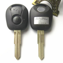2 BUTTON remote key shell ssangyong actyon kyron uncut blade key fob cover case replacement+ free shipping