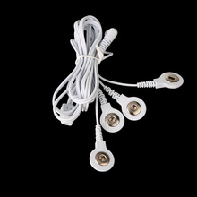 2.5MM 4 Buttons Electrode Wires Connecting Cables for Digital TENS Therapy Machine Massager Health Care Tool
